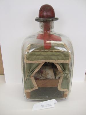 model in bottle